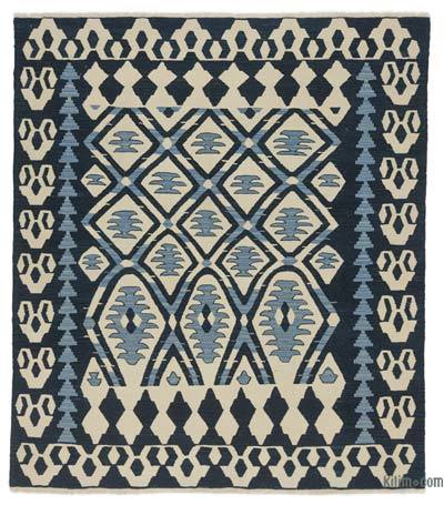 "New Handwoven Turkish Kilim Rug - 6'9"" x 7'8"" (81 in. x 92 in.)"