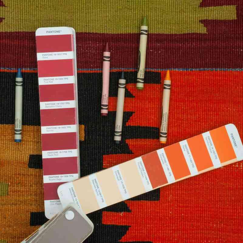 Çok Renkli Afyon Kilimi - 204 cm x 341 cm - K0044500