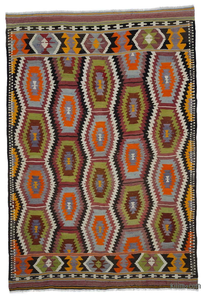 Çok Renkli Antalya Kilimi - 169 cm x 252 cm - K0044504