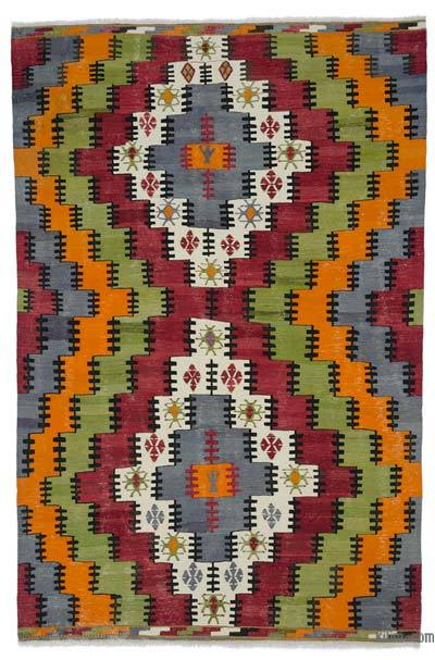 Çok Renkli Balıkesir Kilimi - 196 cm x 297 cm
