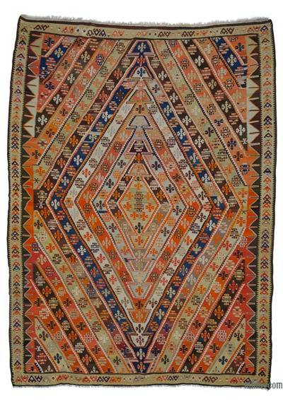 Antique Bayburt Kilim Rug