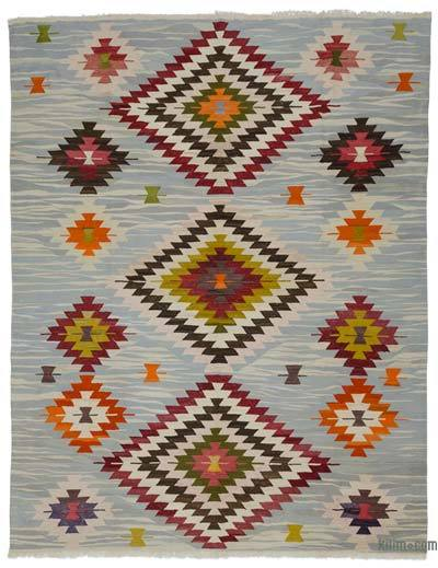 "New Turkish Kilim Rug - Vintage Yarn - 9'2"" x 11'9"" (110 in. x 141 in.)"
