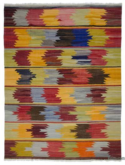 "New Turkish Kilim Rug - Vintage Yarn - 9' 11"" x 13'  (119 in. x 156 in.)"