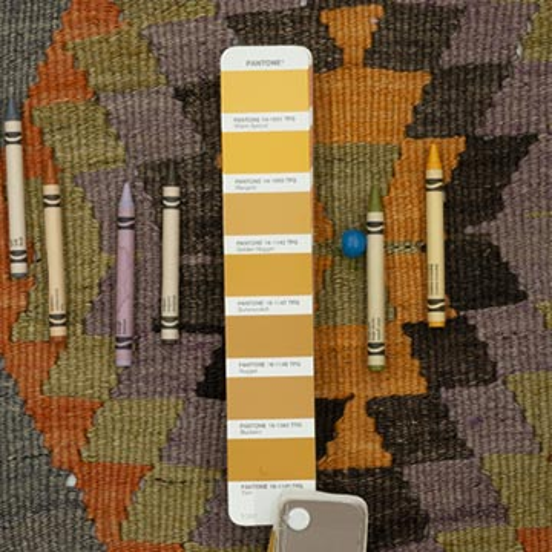 Multicolor Vintage Esme Kilim Rug - 5' 2# x 11' 4# (62 in. x 136 in.) - K0044529