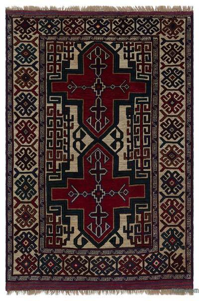 "Turkish Vintage Area Rug - 4'2"" x 6'6"" (50 in. x 78 in.)"