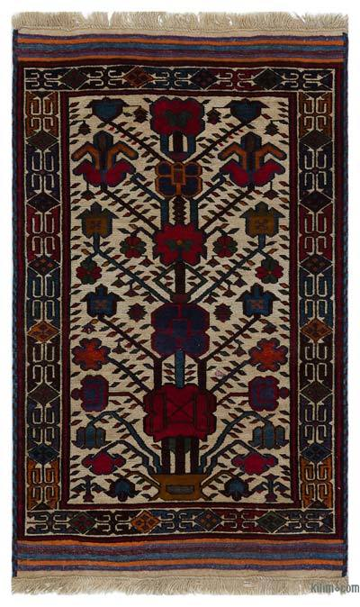 "Turkish Vintage Area Rug - 2'10"" x 4'9"" (34 in. x 57 in.)"