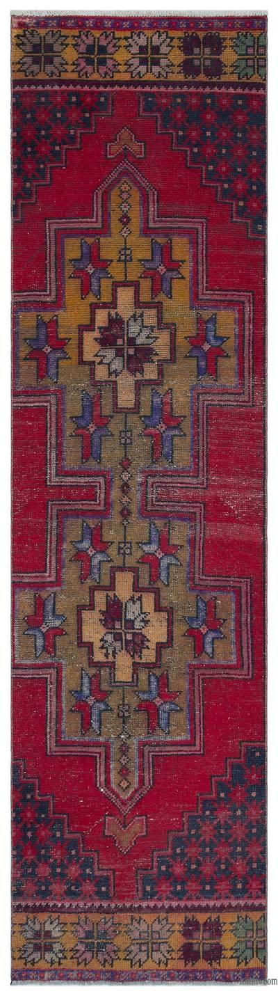 "Vintage Turkish Area Rug - Anatoli - 2' 7"" x 9' 3"" (31 in. x 111 in.)"
