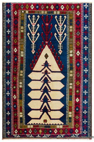 """Turkish Vintage Area Rug - 4'4"""" x 6'7"""" (52 in. x 79 in.)"""