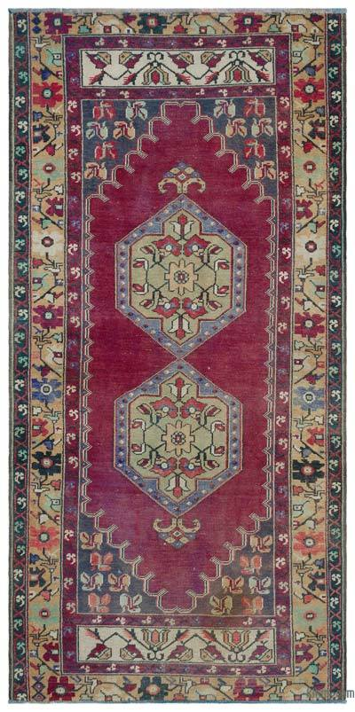 """Turkish Vintage Area Rug - 3'11"""" x 8'1"""" (47 in. x 97 in.)"""