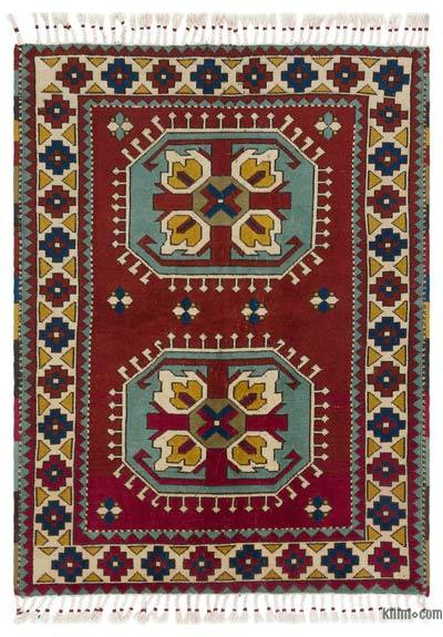 "Turkish Vintage Area Rug - 4'2"" x 5'8"" (50 in. x 68 in.)"