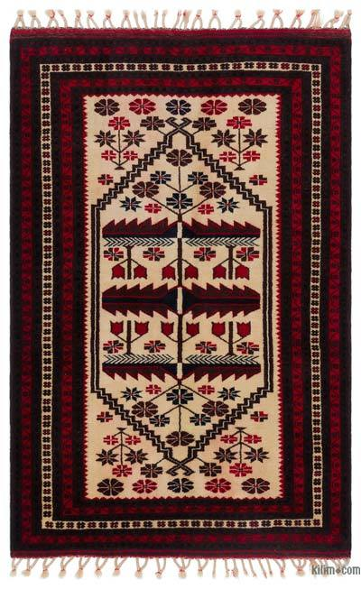 "Turkish Vintage Area Rug - 3'7"" x 5'7"" (43 in. x 67 in.)"