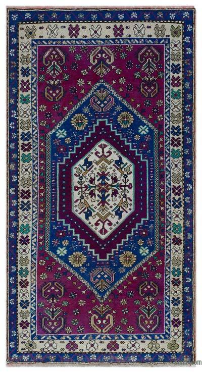 "Turkish Vintage Area Rug - 3'2"" x 6'1"" (38 in. x 73 in.)"