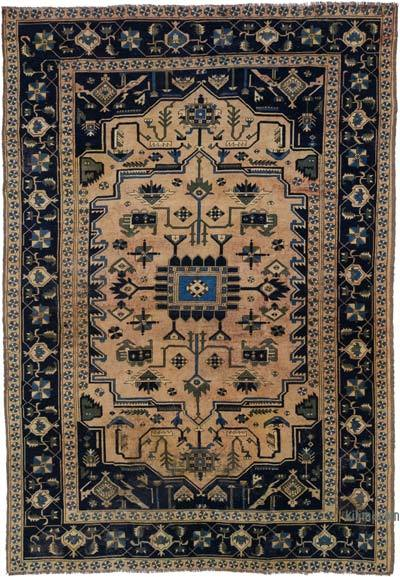 """Turkish Vintage Area Rug - 6' 5"""" x 9' 7"""" (77 in. x 115 in.)"""