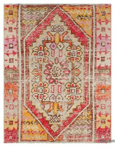 El Dokuma Vintage Halı - 81 cm x 99 cm