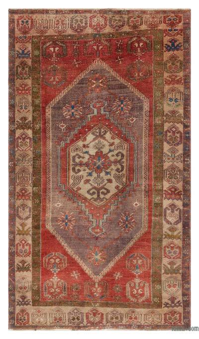 """Turkish Vintage Area Rug - 3'7"""" x 6'2"""" (43 in. x 74 in.)"""