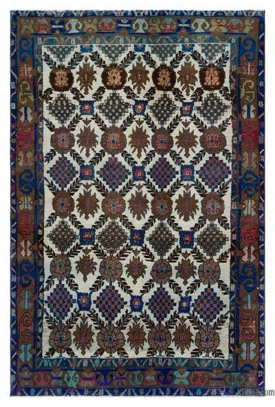 """Turkish Vintage Area Rug - 4' x 6'1"""" (48 in. x 73 in.)"""