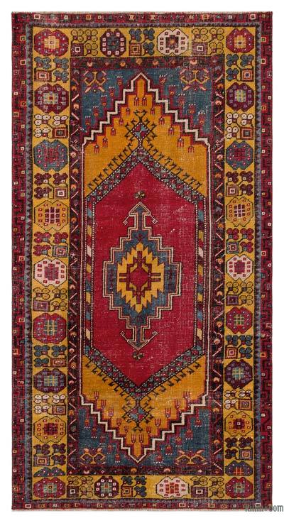 """Turkish Vintage Area Rug - 3'5"""" x 6'8"""" (41 in. x 80 in.)"""