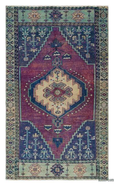 "Turkish Vintage Area Rug - 2'10"" x 4'10"" (34 in. x 58 in.)"