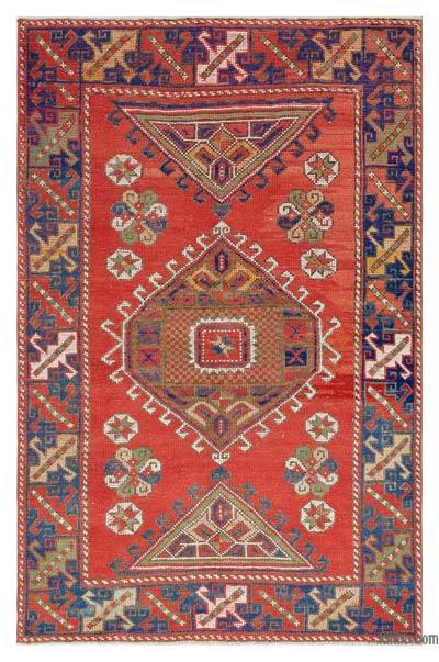 """Turkish Vintage Area Rug - 3'10"""" x 5'9"""" (46 in. x 69 in.)"""