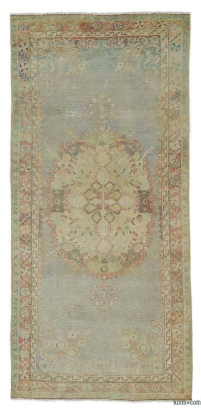 "Turkish Vintage Area Rug - 2'11"" x 6'4"" (35 in. x 76 in.)"