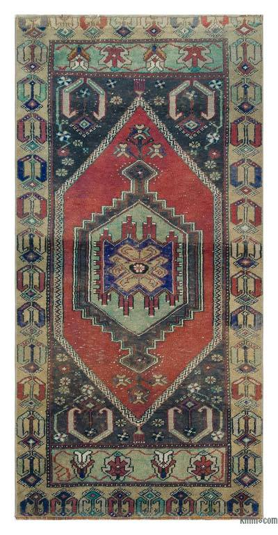 """Turkish Vintage Area Rug - 2'6"""" x 5'2"""" (30 in. x 62 in.)"""