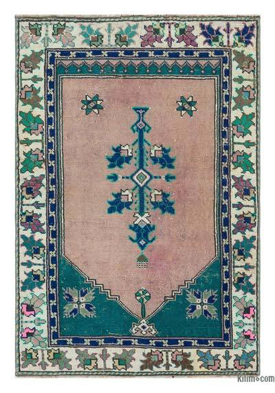"Turkish Vintage Area Rug - 2' 7"" x 3' 10"" (31 in. x 46 in.)"