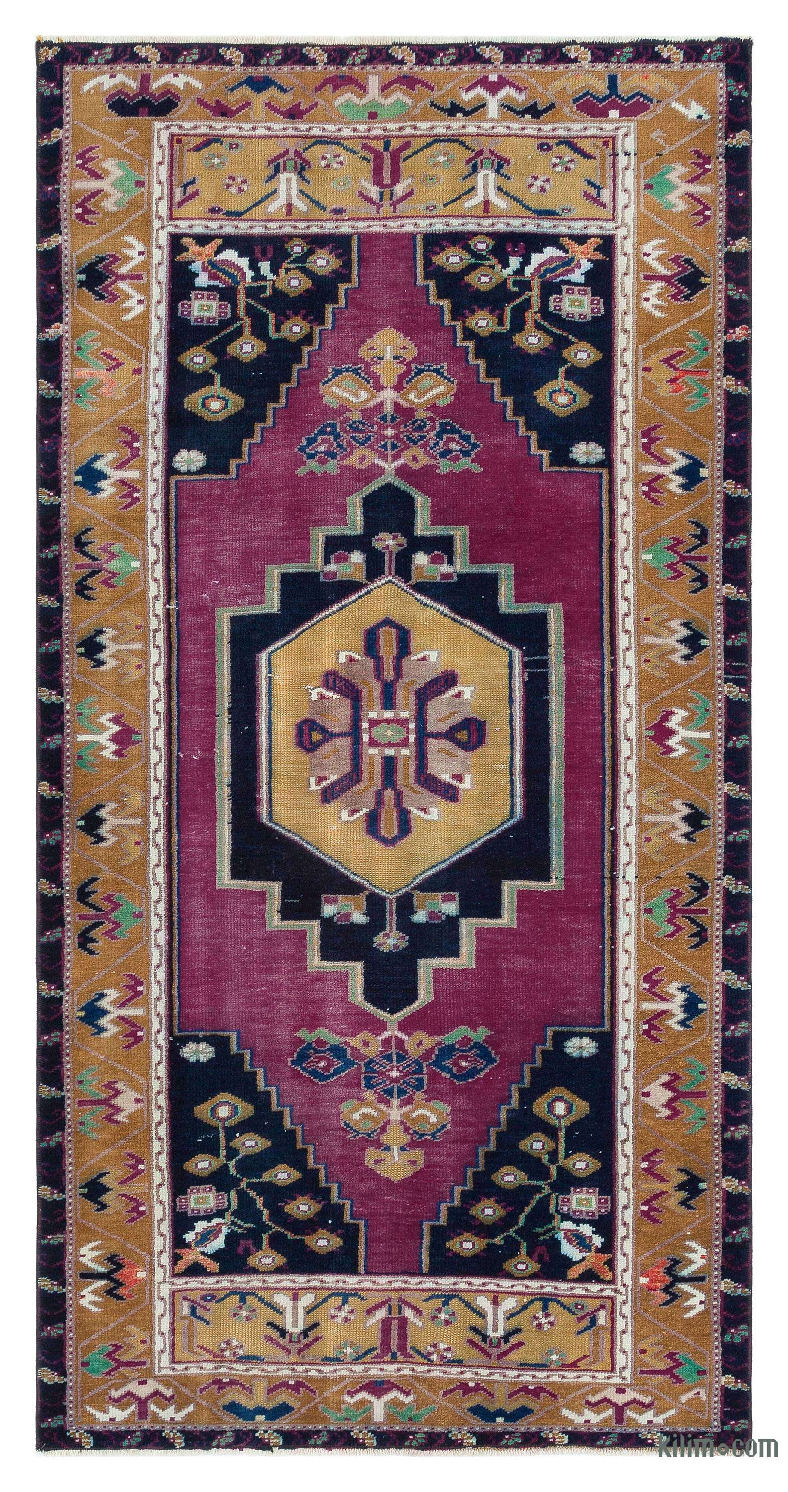 K0044624 Vintage Turkish Area Rug Anatoli 3 1 X 6 1 37 In X 73 In The Source For Hand Knotted Vintage Rugs Hand Woven Kilim Rugs Wool Turkish Rugs Overdyed Persian Rugs