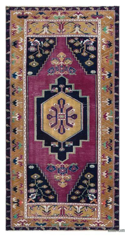 "Turkish Vintage Area Rug - 3' 1"" x 6' 1"" (37 in. x 73 in.)"