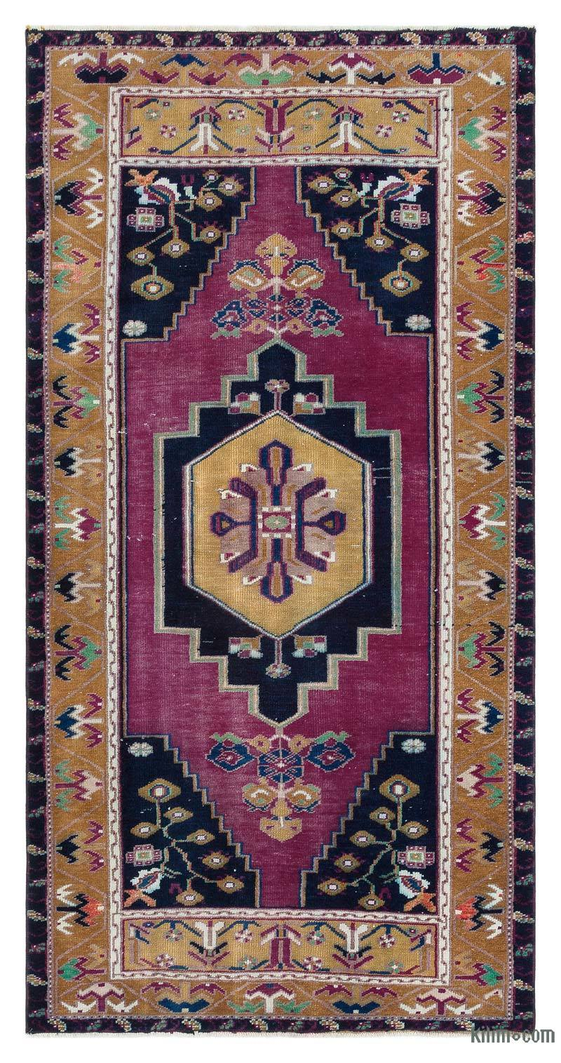 """Vintage Turkish Hand-Knotted Rug - Anatoli - 3' 1"""" x 6' 1"""" (37 in. x 73 in.) - K0044624"""