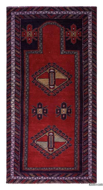 "Turkish Vintage Area Rug - 2' 4"" x 4' 5"" (28 in. x 53 in.)"