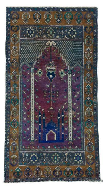 """Turkish Vintage Area Rug - 2' 10"""" x 5' 7"""" (34 in. x 67 in.)"""