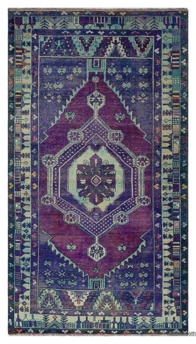"Turkish Vintage Area Rug - 3'10"" x 6'5"" (46 in. x 77 in.)"