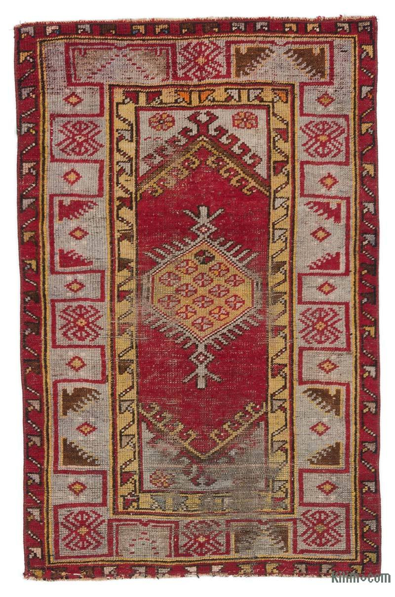 """Vintage Turkish Hand-Knotted Rug - 2' 7"""" x 3' 11"""" (31 in. x 47 in.) - K0044634"""