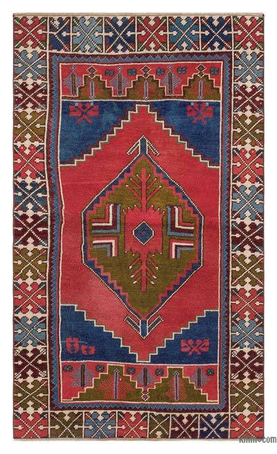 "Turkish Vintage Area Rug - 3'1"" x 5'2"" (37 in. x 62 in.)"