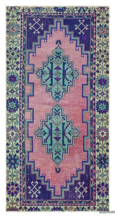 "Turkish Vintage Area Rug - 2'10"" x 5'6"" (34 in. x 66 in.)"