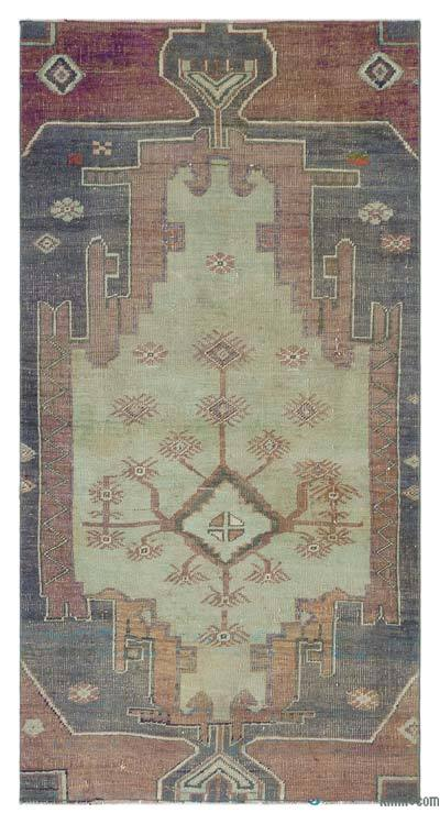 """Turkish Vintage Area Rug - 3'3"""" x 6'2"""" (39 in. x 74 in.)"""