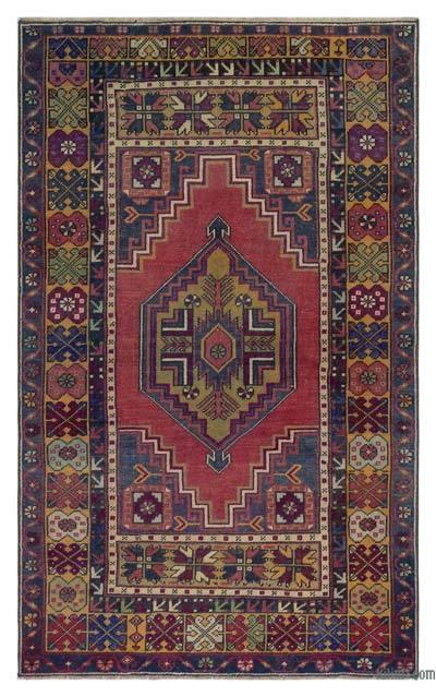 "Vintage Turkish Area Rug - Anatoli - 3' 8"" x 5' 10"" (44 in. x 70 in.)"