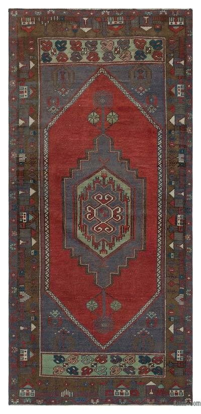 """Vintage Turkish Hand-Knotted Rug - Anatoli - 3' 5"""" x 7' 3"""" (41 in. x 87 in.)"""