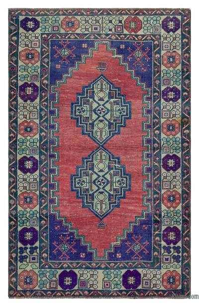 """Turkish Vintage Area Rug - 3'5"""" x 5'7"""" (41 in. x 67 in.)"""