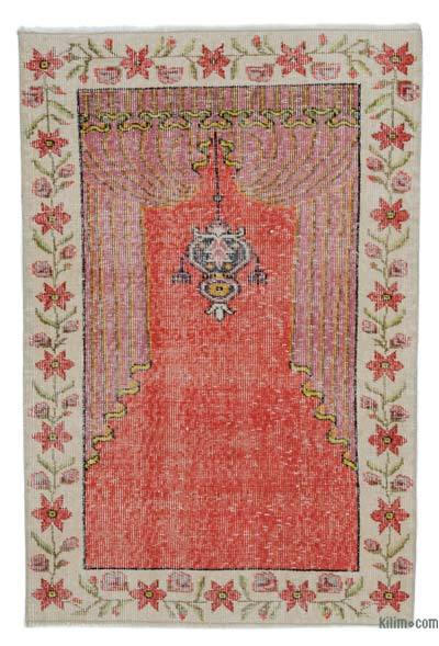 "Turkish Vintage Area Rug - 2'8"" x 4' (32 in. x 48 in.)"