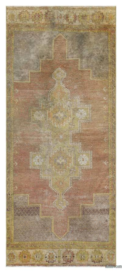 "Turkish Vintage Area Rug - 2' 11"" x 6' 8"" (35 in. x 80 in.)"