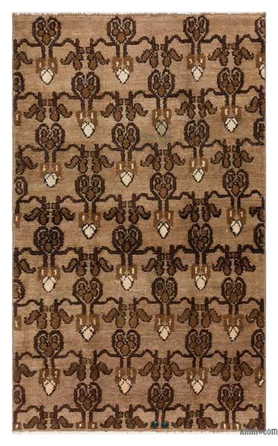 "Turkish Vintage Area Rug - 3'3"" x 5'5"" (39 in. x 65 in.)"