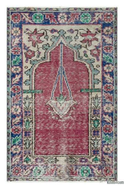 "Turkish Vintage Area Rug - 2' 7"" x 4'  (31 in. x 48 in.)"