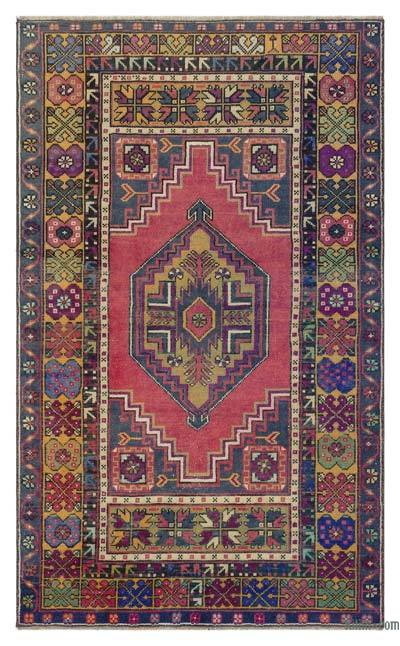 "Turkish Vintage Area Rug - 3' 7"" x 5' 11"" (43 in. x 71 in.)"