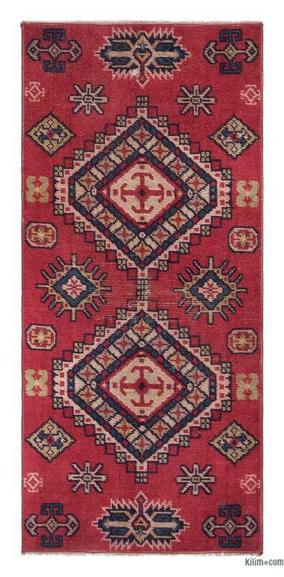 """Turkish Vintage Area Rug - 1'11"""" x 3'11"""" (23 in. x 47 in.)"""