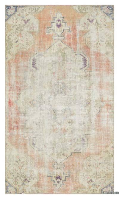 El Dokuma Vintage Halı - 107 cm x 180 cm