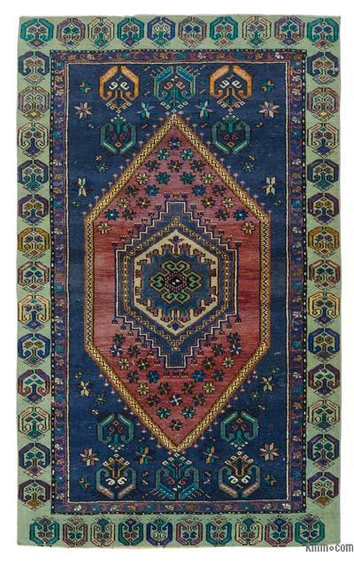 "Turkish Vintage Area Rug - 3' 4"" x 5' 5"" (40 in. x 65 in.)"
