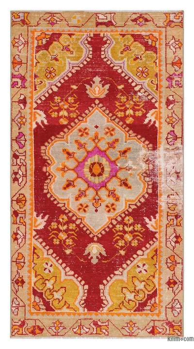 "Turkish Vintage Area Rug - 2'8"" x 4'10"" (32 in. x 58 in.)"