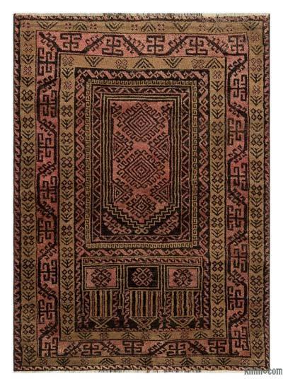 El Dokuma Vintage Halı - 92 cm x 130 cm