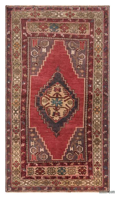 "Turkish Vintage Area Rug - 3'1"" x 5'3"" (37 in. x 63 in.)"